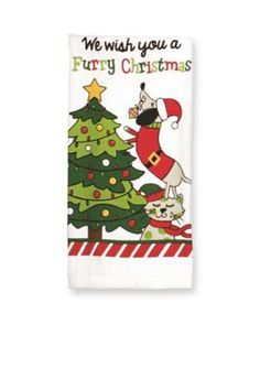 John Ritzenthaler Company  Furry Christmas Kitchen Towel