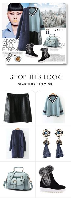 """""""Longline Pocket Cardigan"""" by merylicious91 ❤ liked on Polyvore featuring vintage and zaful"""