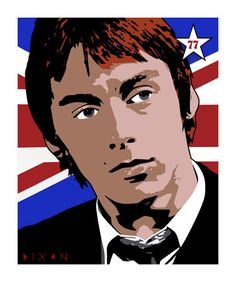 """Paul Weller"" by Simon Dixon (source: www.simondixon.net) 70cm x 80cm, Giclee Print."