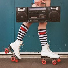 Roller Skates- Looks like one pair I had. I had so much fun with my roller skates. Was able to do so many tricks. I spent hours on end roller skating in the back, and in the street.