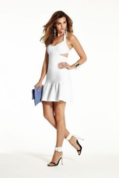 Mirage Sleeveless Bandage Dress with Cutouts | GUESS.com This cute dress is only $29.99