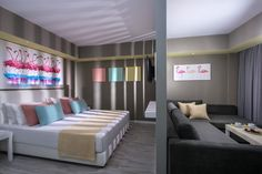 Flamingo Concept Room Fodele Beach&Waterpark Holıday Resort, Heraklıon/Crete/Greece 2017-Design by Tulay TOSUN