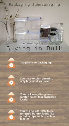 The one change that will make a massive difference to your household rubbish is buying from bulk bins. The other advantage of this is that it forces you to pla Recycling Information, Waste Reduction, Produce Bags, Frugal Living Tips, Lists To Make, No Plastic, How To Eat Less, Potato Chips, Sustainable Living