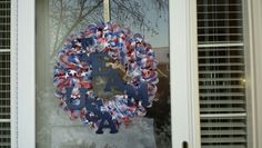 Mesh Ribbon USA Olympic Wreath