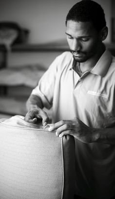 Making our cushions on site allows us to tailor to an exacting degree each cushion to each particular piece of furniture.