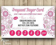 Frequent Buyer Card, Business Card, Direct Sales Marketing, Independant Consultant, Directs Sales Business Card