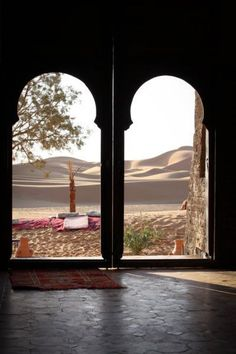 Twin arches in Morocco