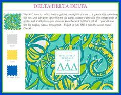 Lilly Pulitzer Delta Delta Delta