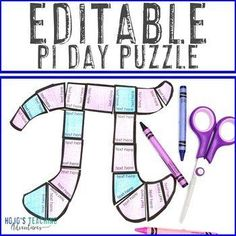 EDITABLE Pi Day Activity - Create your own puzzle on ANY topic! | 1st, 2nd, 3rd, 4th, 5th, 7th, 8th grade, Activities, English Language Arts, Fun Stuff, Games, Holidays/Seasonal, Homeschool, Math, Middle School