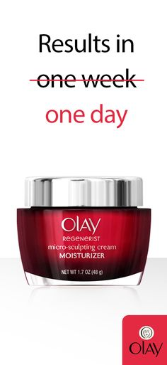 Harness the anti-aging power of America's #1 selling anti-aging moisturizer, Olay Regenerist Micro-Sculpting Cream. You'll reverse up to 10 years worth of wrinkles, and your skin will thank you!