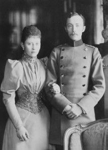 Princess Margaret of Prussia and her fiance, Prince Frederick Charles of Hesse