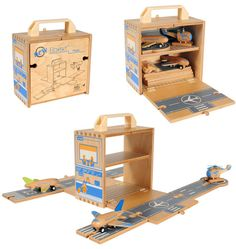 Little Boo-Teek - Tiger Tribe Boxset - Airport Wooden Car, Wooden Boxes, Diy Travel Toys, Plywood Boxes, 1 Plywood, Tiger Tribe, Airplane Toys, Airplanes, Baby Shop Online