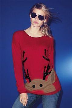 Buy Fun Reindeer Sweater from the Next UK online shop