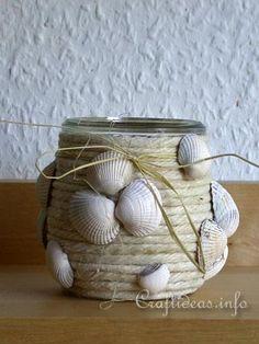 Summer Craft - Maritime Craft - Seashell Votive Glass 2