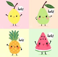 Drawn fruit kawaii - pin to your gallery. Explore what was found for the drawn fruit kawaii Kawaii Drawings, Cute Drawings, Kawaii Fruit, Stickers Kawaii, Fruit Cartoon, Watermelon Cartoon, Cartoon Pineapple, Cartoon Cartoon, Stickers