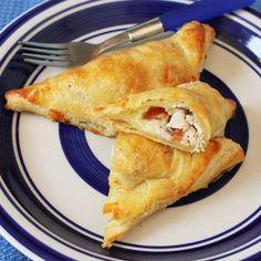 Cheesy Chicken and Tomato Bruschetta Turnovers