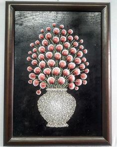 Vase Of Flowers 🌹💐🌹 Acrylic painting on diverses sea shells (installed on wood) ! Seashell Painting, Seashell Art, Seashell Crafts, Sea Glass Crafts, Sea Crafts, Diy Arts And Crafts, Pista Shell Crafts, Seashell Projects, Shell Flowers