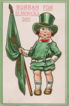 Hurrah for St Patrick's Day - vintage postcard circa 1910