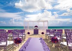 Purple beach wedding!