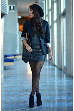 H-m-blazer-pleather-forever21-skirt-cotton-tiebreak-tees-t-shirt