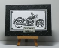 Cathys Card Spot: Classic Motorcycle