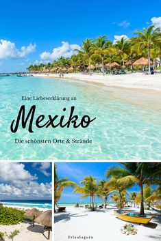 Cabo San Lucas, Puerto Vallarta, Puerto Escondido, Tulum, Akumal, Playa del Carmen, Cozumel, Cancun und Isla Holbox sind die beliebtesten Urlaubsziele in Mexiko. Ich stelle sie euch genauer vor und verrate euch, was euch hier erwartet und welche Ausflüge ihr neben Cichen Itza noch machen könnt. #mexiko #tulum #cancun #beaches #travel #bucketlist
