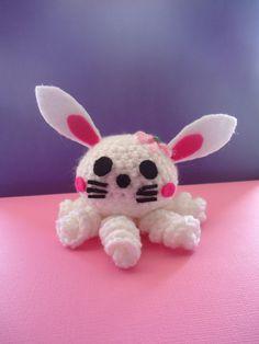 Bunny Rabit Crochet Amigurumi Octopus Doll / Handmade Gift for Valentine / Couples Gift. $16.00, via Etsy.