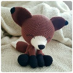 """So, this is the pattern for my design """"The Sleepy Fox""""."""