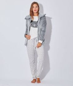 Pyjama 3 pièces , veste polaire, haut koala - Etam Lingerie - octobre 2015 - 55€