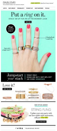Baublebar is the most amazing website for those who adore fashion jewelry.
