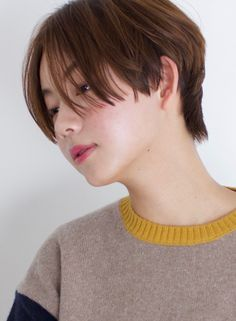 Asian Bangs, Asian Short Hair, Short Hair Cuts, Tomboy Hairstyles, Asian Men Hairstyle, Korean Short Haircut, Shot Hair Styles, Tomboys, Pixie Haircut