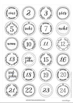 Adventskalender Ideen Advent calendar numbers to print * Printable, freebie for DIY DIY advent calen Advent Calenders, Diy Advent Calendar, Diy Cadeau Maitresse, Diy Calendario, Calendrier Diy, Calendar Numbers, Fleurs Diy, Printable Numbers, Print Calendar
