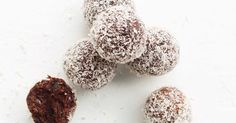 Indulge in a chocolate coconut treat, with these better-for-you, Cherry Ripe-inspired bliss balls.