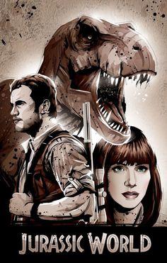 Jurassic World- Clawen, Raptor Daddy and Rex Mom!