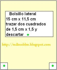 MOLDE DE BOLSILLO DE BOLSO GRANDE en MIL MOLDES Fabric Dolls, Fabric Purses, Large Tote, Leather Wallets, Bags