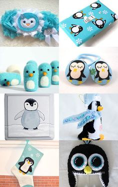 Penguin Stocking Stuffers  --Pinned with TreasuryPin.com