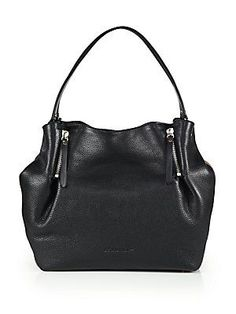 Burberry Maidstone Medium Leather Tote - Black.  My latest addition