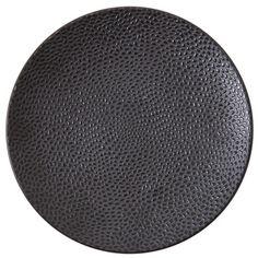 """D&V Cobble 8.25"""" Accent / Dessert Plates Color: Black"""