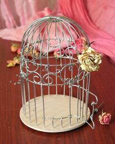 Cantinho craft da Nana: Decoração- gaiola de arame