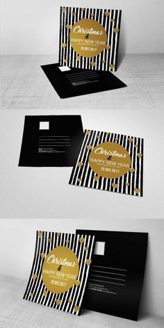Christmas Postcard Template. Wedding Card Templates. $6.00
