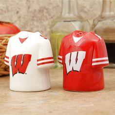Wisconsin Badgers Jersey Ceramic Salt & Pepper Shakers - $12.79