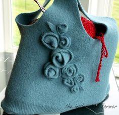repurposed wool sweater = new handbag