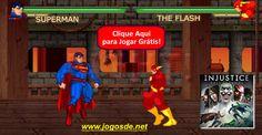 CLIQUE PARA JOGAR Injustice God Among Us no Click Jogos: um jogo de luta no estilo Mortal Kombat com diversos heróis e vilões como Batman e Scorpion. Fight!