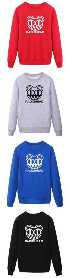 Men Fashion Punk Rock Hip Hop Radiohead Thom Yorke Cotton Men Casual Street Wear hoodies sweatshirt free shipping