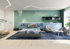 blue turquise boy room inspiration ideas modern realisation Boy Room, Room Inspiration, Studios, Bed, Modern, Furniture, Ideas, Home Decor, Trendy Tree