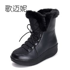 waterproof snow boots womens winter boots women ankle boots for women	booties botas mujer gothic shoes heelless heels laarzen #Affiliate