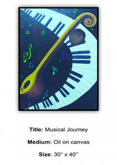 Musical Journey  - Creative Art in Painting by Shaily Varun in Portfolio My Projects at Touchtalent