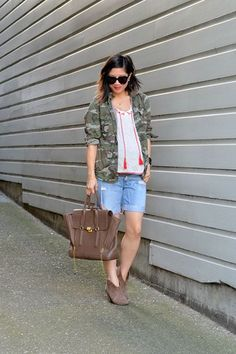 12 Brilliant Spring Outfit Ideas To Try Right Now #refinery29  http://www.refinery29.com/san-francisco-blogger-spring-street-style-pictures#slide-5  Keeping it casual, Nancy Wong of Adore to Adorn pairs a Ross utilitarian jacket with Forever 21 shorts and a tasseled top.