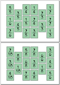 Juego de Fracciones Math Games, Math Activities, Homeschool Math, Fractions, Worksheets, Teaching, Education, Hama Beads, Math Exercises