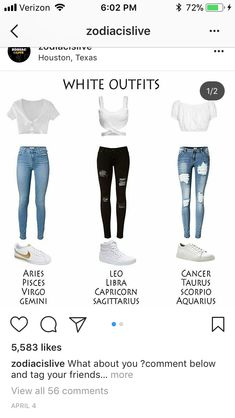 I'm a Libra but I also like Cancers' outfits<<<im a sag and i like ours the most. Idk im an emo and ripped black jeans are my aesthetic Zodiac Signs Sagittarius, Zodiac Star Signs, Zodiac Horoscope, Gemini, Signes Zodiac, Zodiac Clothes, Zodiac Sign Fashion, Signo Libra, Vetement Fashion